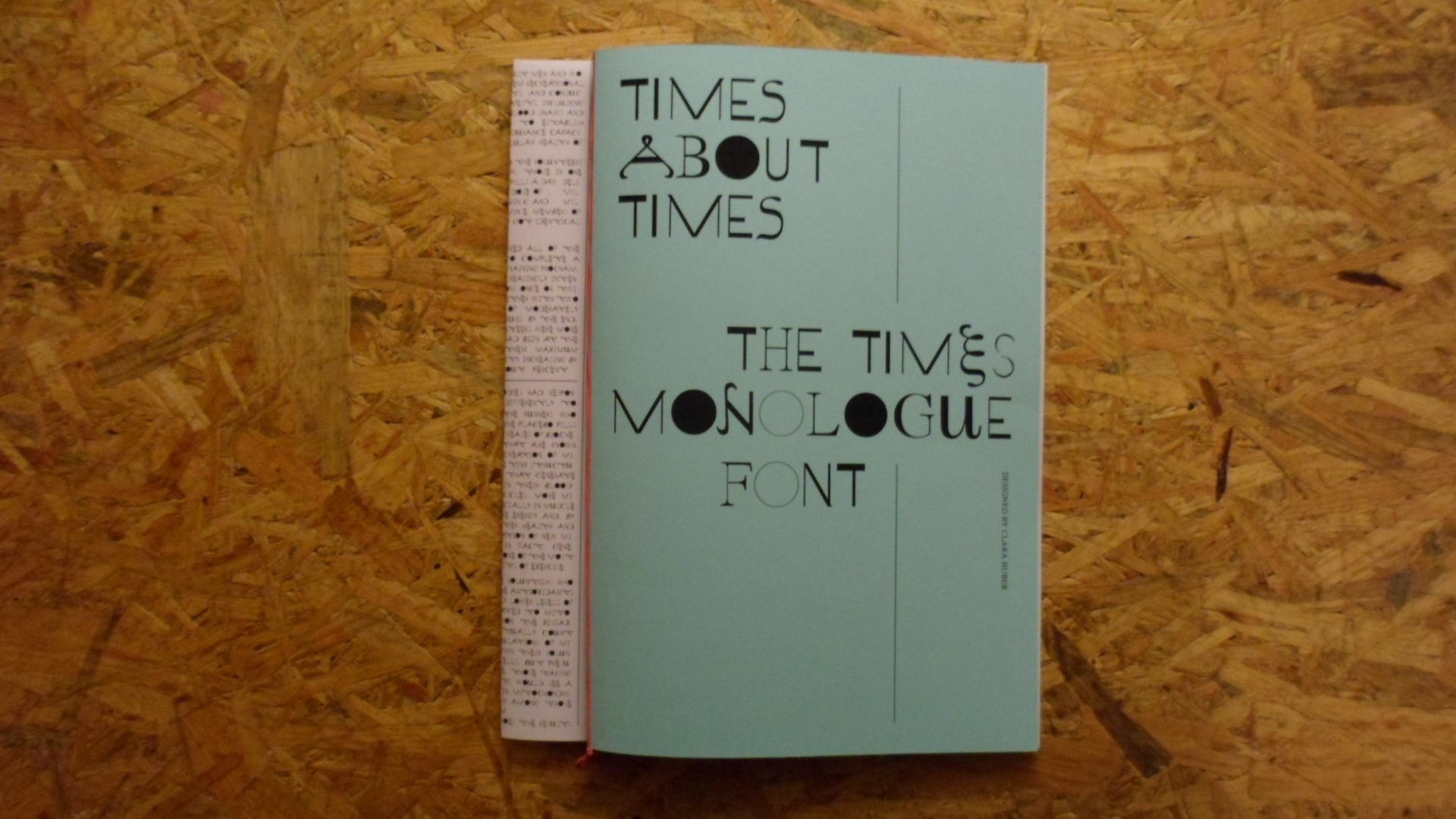 clara huber – visual communication ● The Times Monologue Font