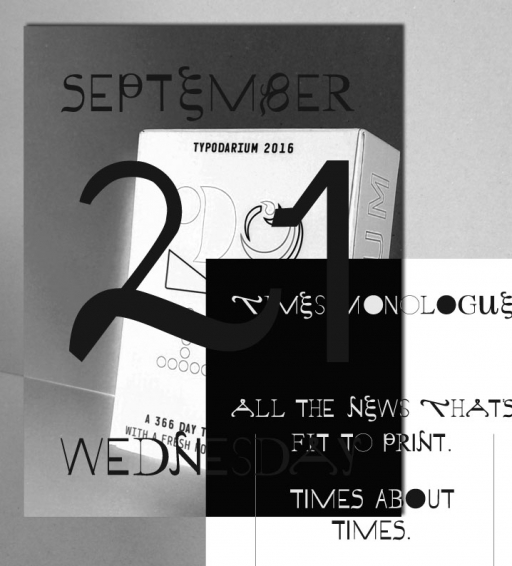 clara huber – visual communication The Times Monologue Font
