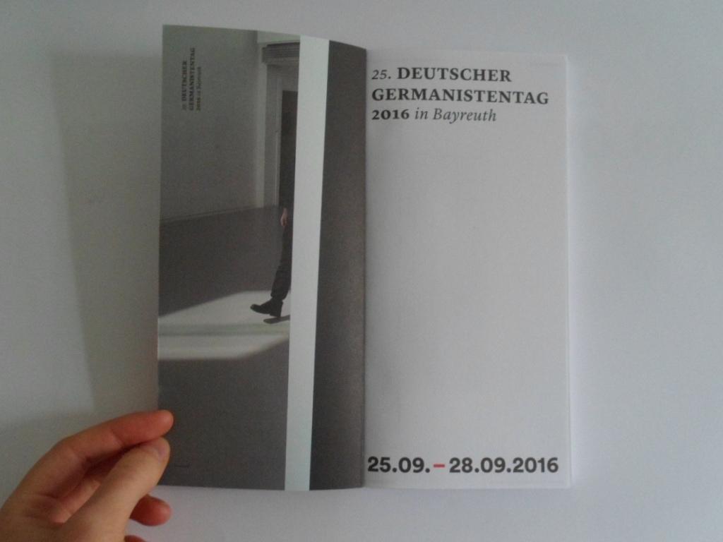 clara huber – visual communication Deutscher Germanistentag – Bayreuth